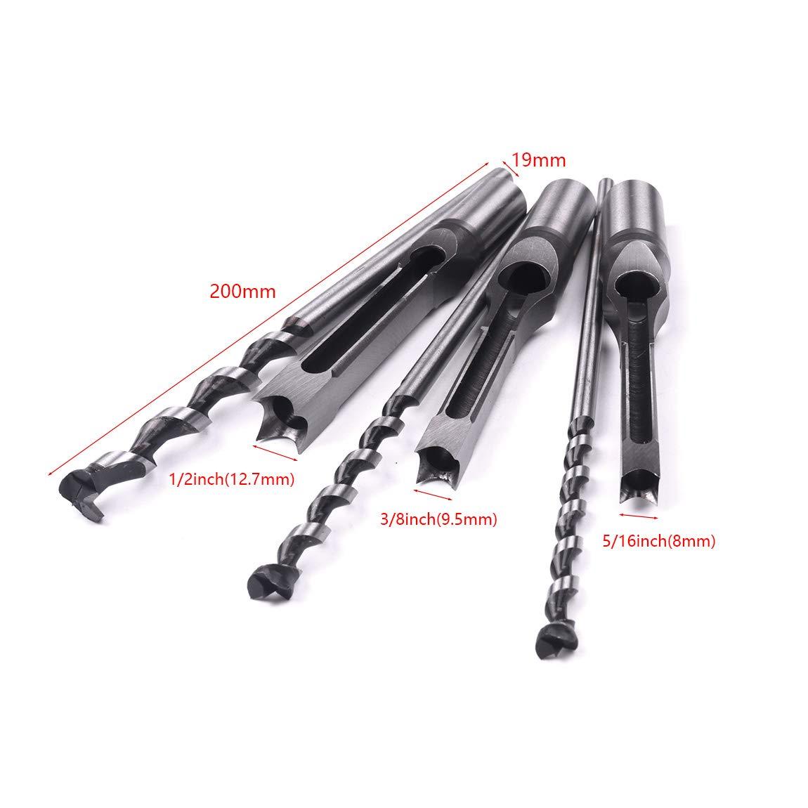 Broca cuadrada para perforar agujeros de cincel herramientas de carpinter/ía