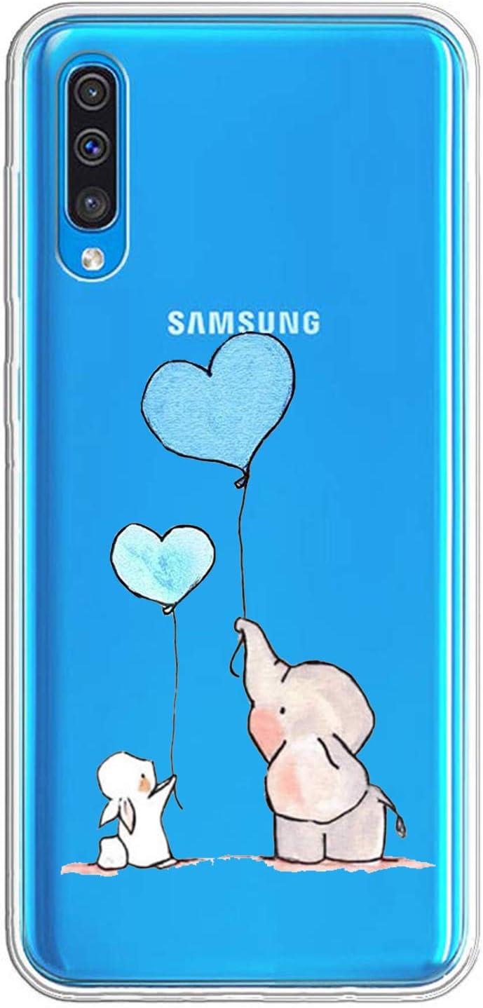 Caler Coque de Protection en Silicone TPU Souple et Fine pour Samsung Galaxy A50