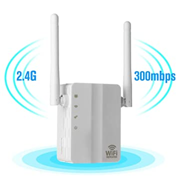 CamKing 300Mbps Fast WiFi Range Extender,with High-Speed Dual External  Antenna for Smartphone/IPad/Computer/TV and Other WiFi-Enabled Devices