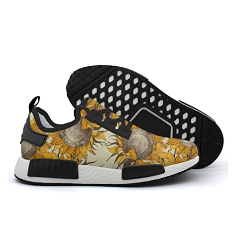 24c08e29cf991 Amazon.com: cool Drawn sunflower retro womens sports running shoes ...