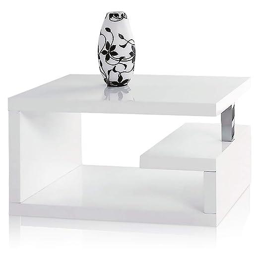 Geno funda brillante café mesa auxiliar/sala de estar/oficina ...