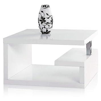 65b3de44443e3 White Gloss Geno Designer Coffee Table Side Table  Amazon.co.uk ...