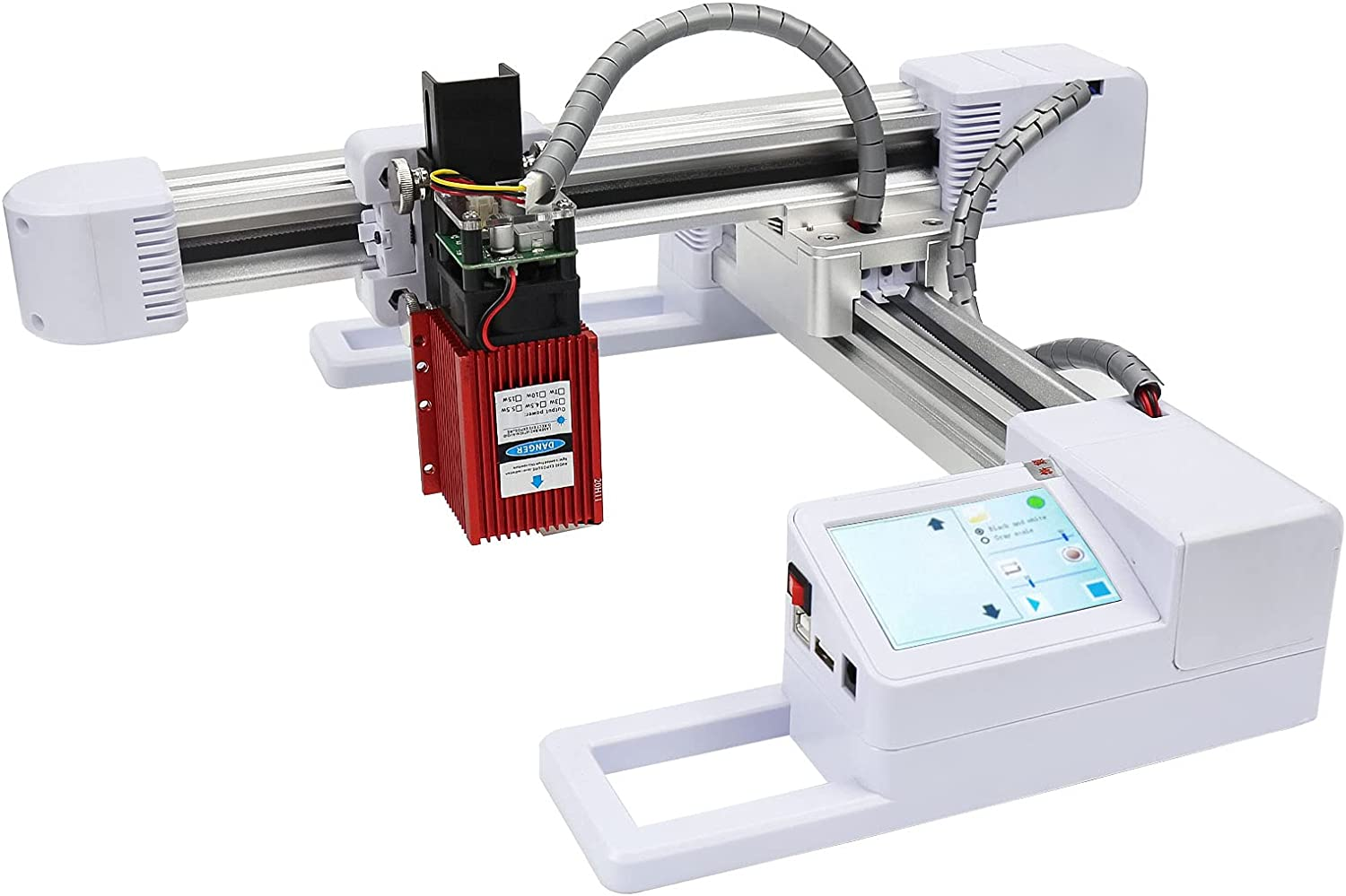 WAINLUX L1 Fixed Focus Laser Engraver, 30W Laser Engraving Machine Cutting Machine, Support Win and Mobile WiFi Connection, Used for DIY Logo Wood, Leather, Food or Design — White