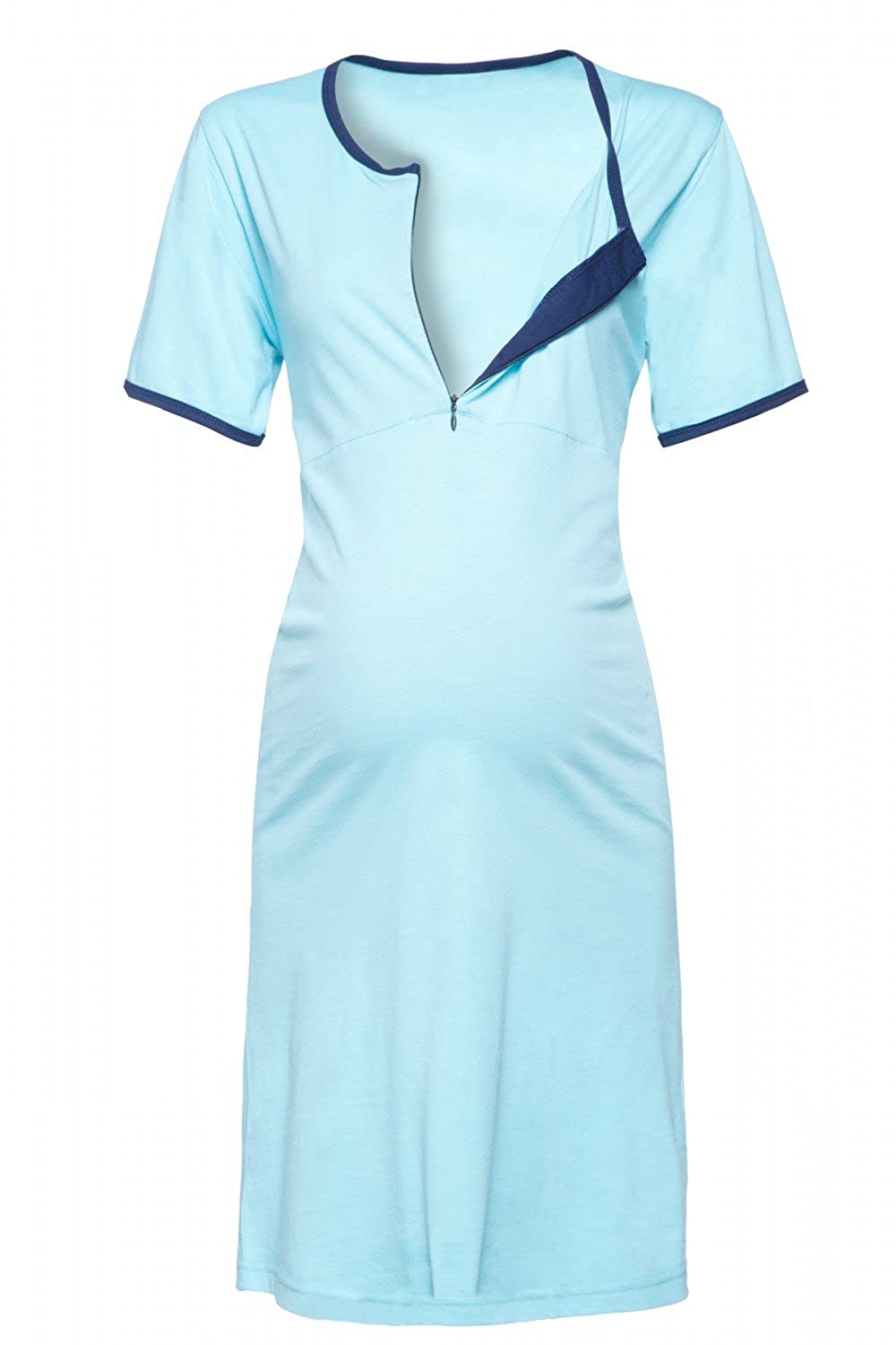 Happy Mama. Womens Maternity Nursing Breastfeeding Nightdress Shirt Gown. 350p nursing_night_350
