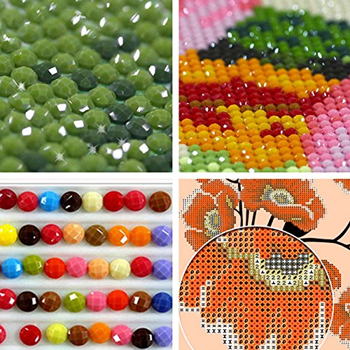 5D DIY Diamond Painting Kit, Cross Stitch Kits for Fun Crystal Rhinestone Diamond Embroidery Paintings ,Arts Craft for Home Wall Decor (Spent 3)