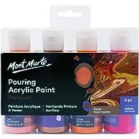 Mont Marte Acrylic Pouring/Fluid Paint Set 120ml 4pc - Coral