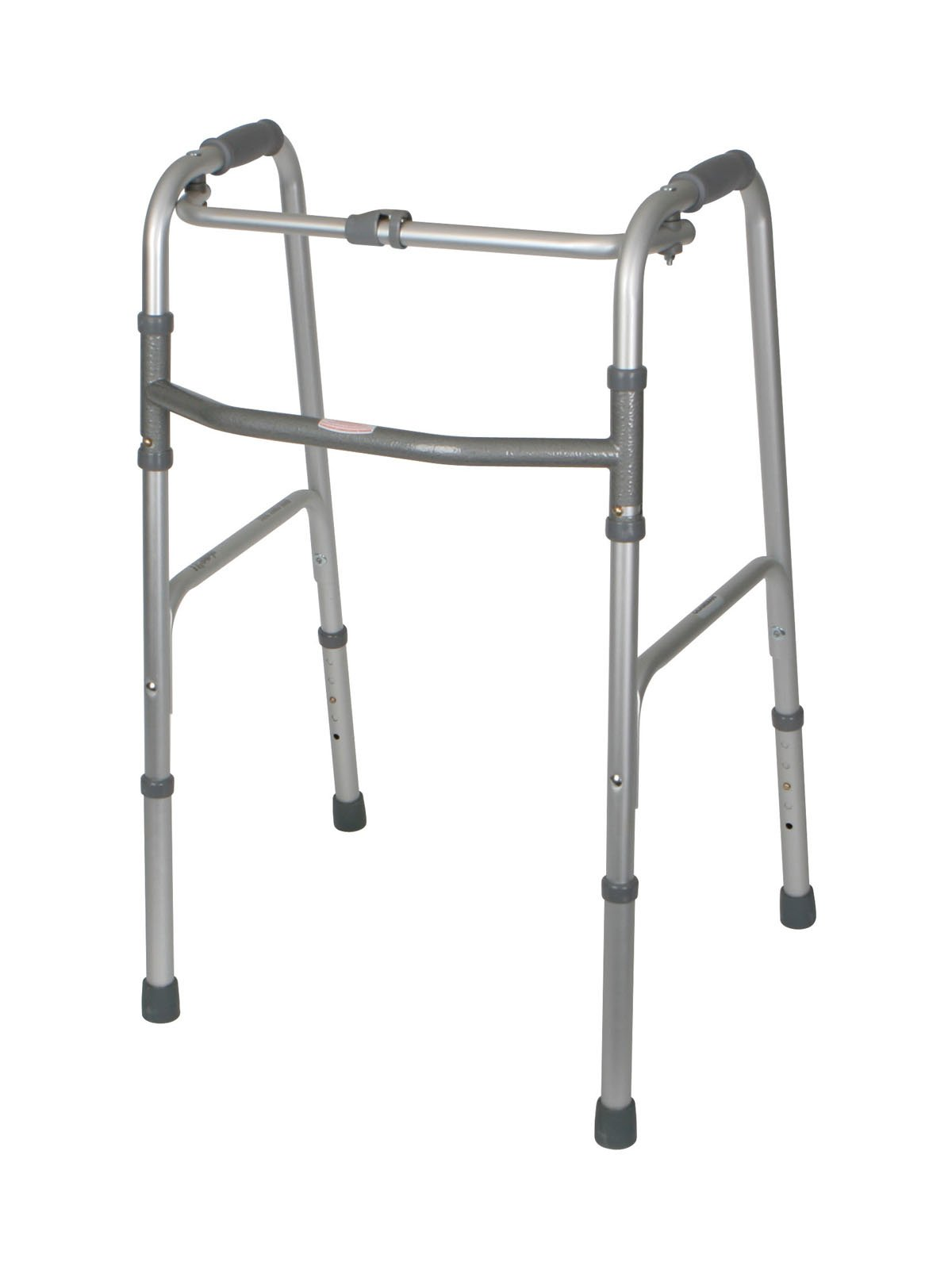 Medline MDS86615 One-Button Folding Walkers, Adult (Pack of 2)