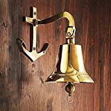 Windlass Nautical Anchor Mount Brass Ship's Bell - 5''