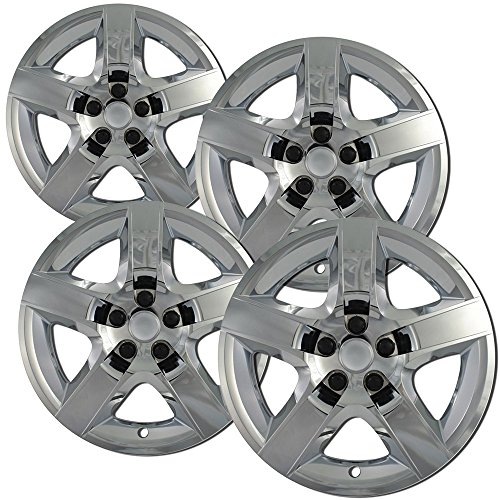 OxGord Hubcaps for 17 Inch Wheels (Pack of 4) Wheel Covers - Chrome (Pilot Chevy Chrome)