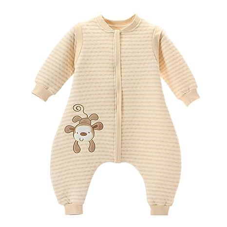 02ebeb22b03b2 LifeWheel Surpyjama en coton bio coloré avec manches et ouvertures aux  pieds pour enfant de 6