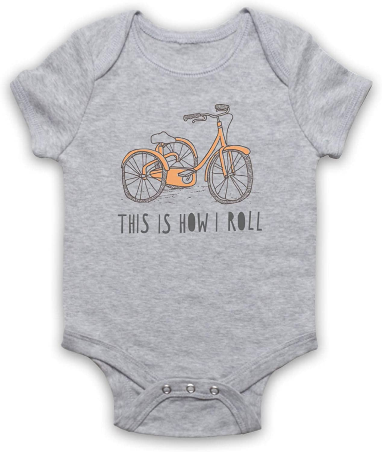 My Icon Unisex-Babys Tricycle Retro This is How I Roll Baby Grow