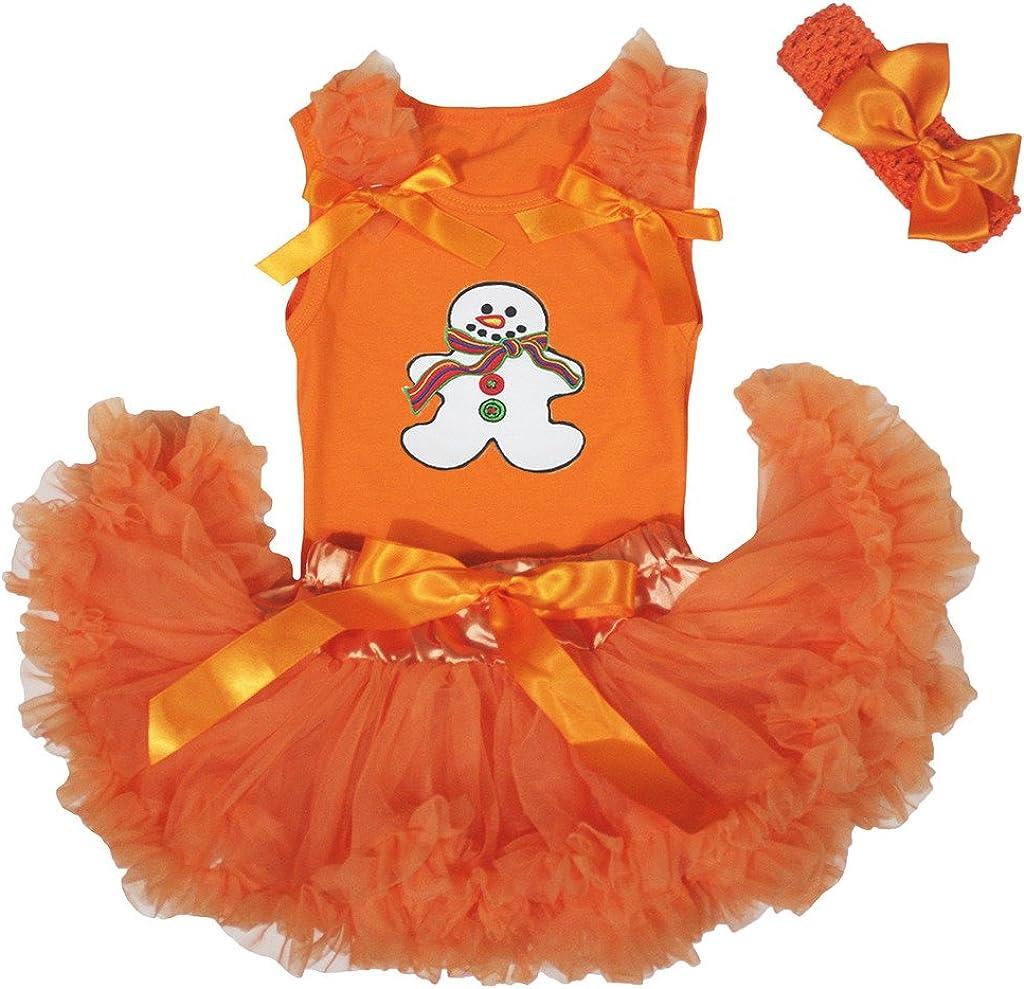 Petitebelle de muñeco de Nieve Naranja bebé niña Falda tutú Juego ...