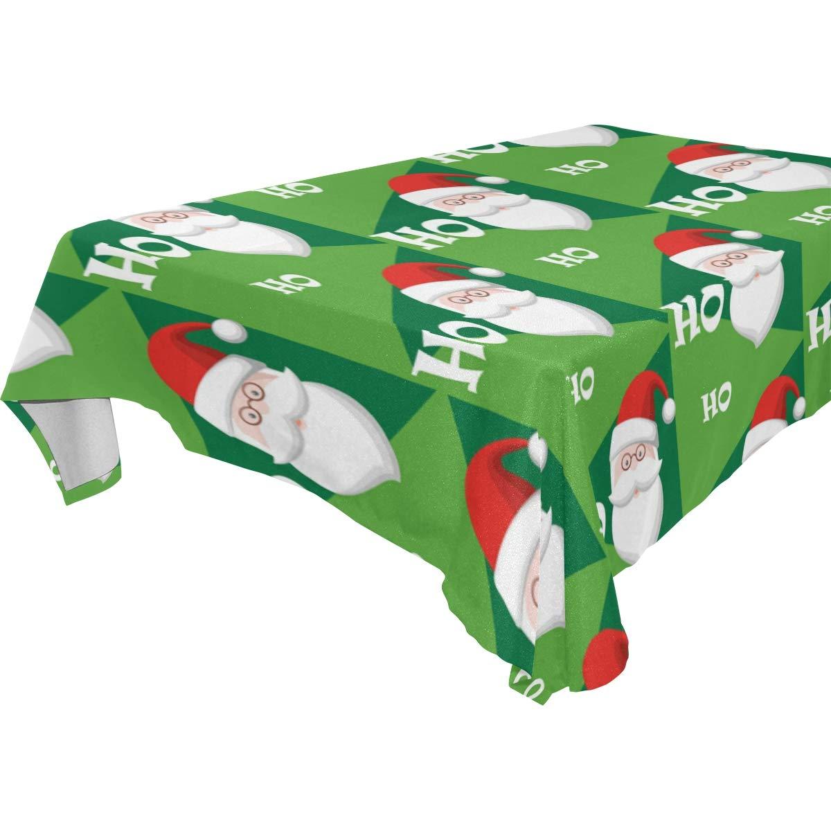 Happy Xmas クリスマス ポリエステルテーブルクロス ディナーパーティー ピクニック キッチン ホームデコレーション マルチ 54x72(in) ホワイト g11994822p120c134s186 54x72(in)  B07KF8Q2VF