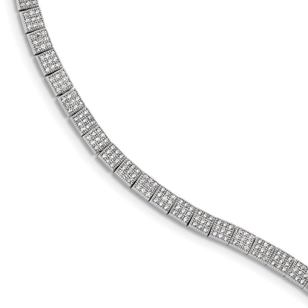 Diamond2Deal pour Femme Argent Sterling 925Oxyde de Zirconium Taille de Bracelet 7.25en
