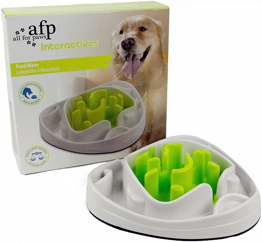 ALL FOR PAWS AFP 2in1 Slow Feed Food Maze Interactive Pet Bowl