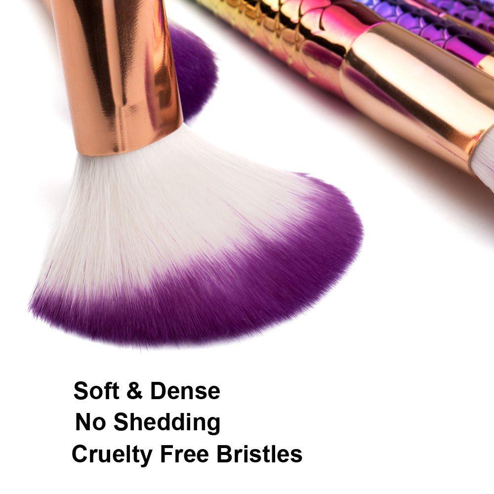 5ba2bc1ee455 Amazon.com: Laliva Pro Makeup Brush Set Thread Rainbow Handle With ...