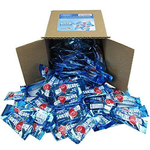 Airheads Candy Bulk - Air Heads Mini Bars Blue Rasberry Chewy Fruit Candies Party Box 6x6x6 Family Size