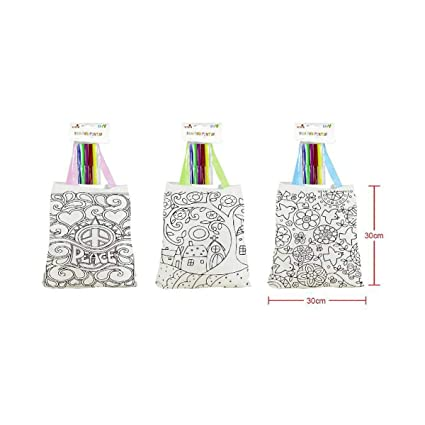 Cisne 2013, S.L. Lote de 3 Bolsas para Colorear con Pinturas ...