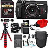 Photo : Olympus Tough TG-5 Digital Camera (Black), Polaroid 32GB Memory Card, 2 Spare Batteries, Charger, Ritz Gear Tripod, Camera Case and Accessory Bundle