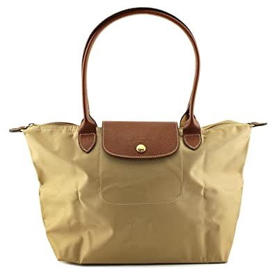 710688d68f5 Amazon.com  Longchamp Pliages Beige Medium Tote Bag Purse  Shoes