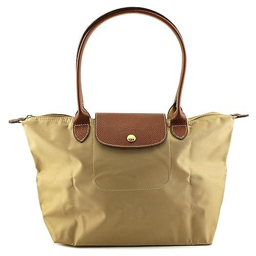 Amazon Com Longchamp Pliages Beige Medium Tote Bag Purse Shoes