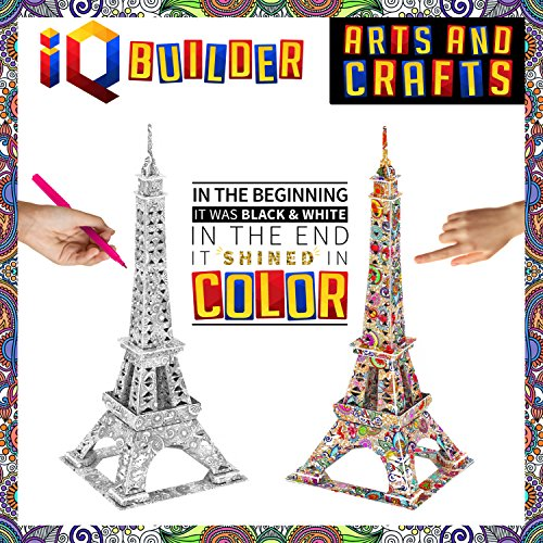 87662604d Amazon.com: IQ BUILDER | Fun Creative DIY Arts and Crafts KIT | Best Toy  Gift for Girls and Boys Age 8 9 10 11 12 Year Old | Educational Art  Building ...