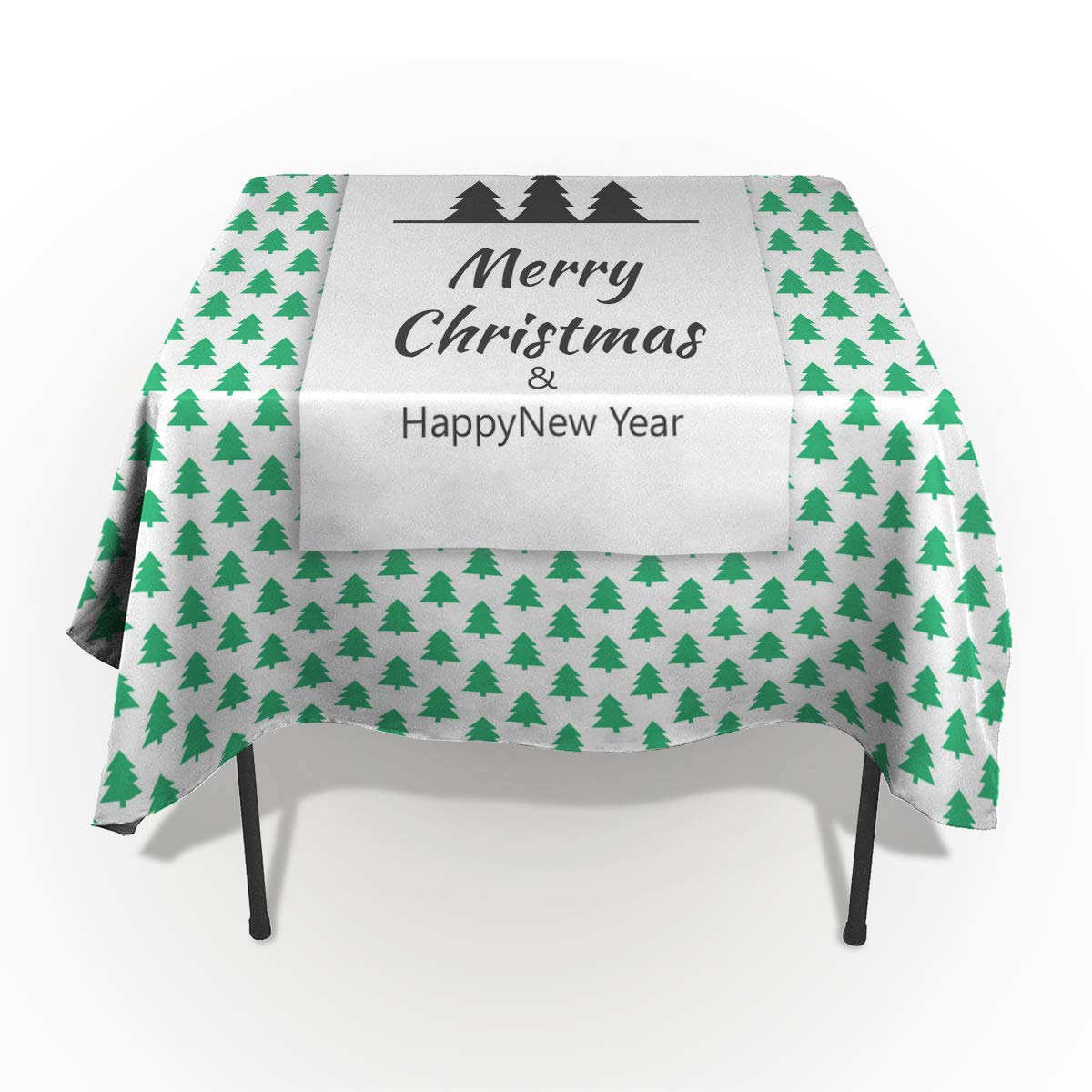 Fantasy Star 長方形ポリエステルテーブルクロス クリスマス 赤 白 ストライプ 洗濯機洗い可能 テーブルカバー 装飾テーブルクロス キッチン ダイニング 宴会 パーティー 60