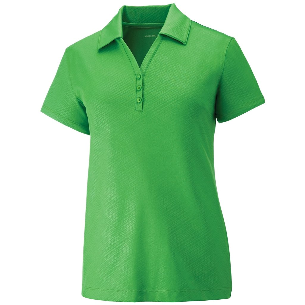 Ash City Ladies Maze Stretch Polo (XX-Large, Valley Green) by Ash City Apparel