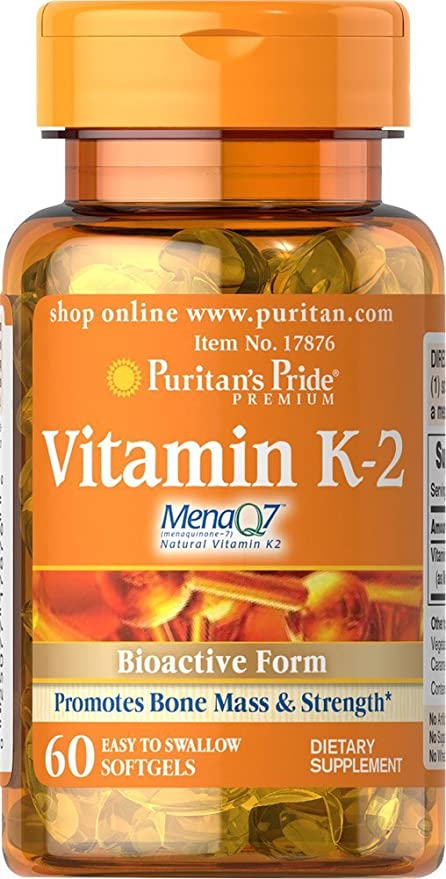 Vitamina K-2 60 perlas 50 mcg K2 MenaQ7.