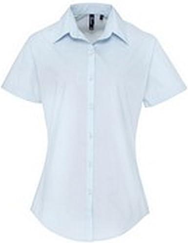 Premier- Camisa de Trabajo de Manga Corta con popelín Mujer: Amazon.es: Ropa y accesorios