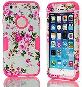 Case For Samsung Galsxy S3 I9300 Cover Case Rose Flower, Case For Samsung Galsxy S3 I9300 Cover Case, i6 Cover, MagicSky 3 in 1 Combo Tuff Hybrid Armor Shockproof Cover Skin Protective Case For Samsung Galsxy S3 I9300 Coverinch, 1 Pack(Hot Pink)