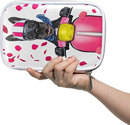 In Love para San Valentín Bulldog francés estuche para lápices, estuche para bolígrafos, bolsa de mano, bolsa de viaje para moto, perro, cosméticos, pasaporte, almacenamiento para mujeres: Amazon.es: Oficina y papelería