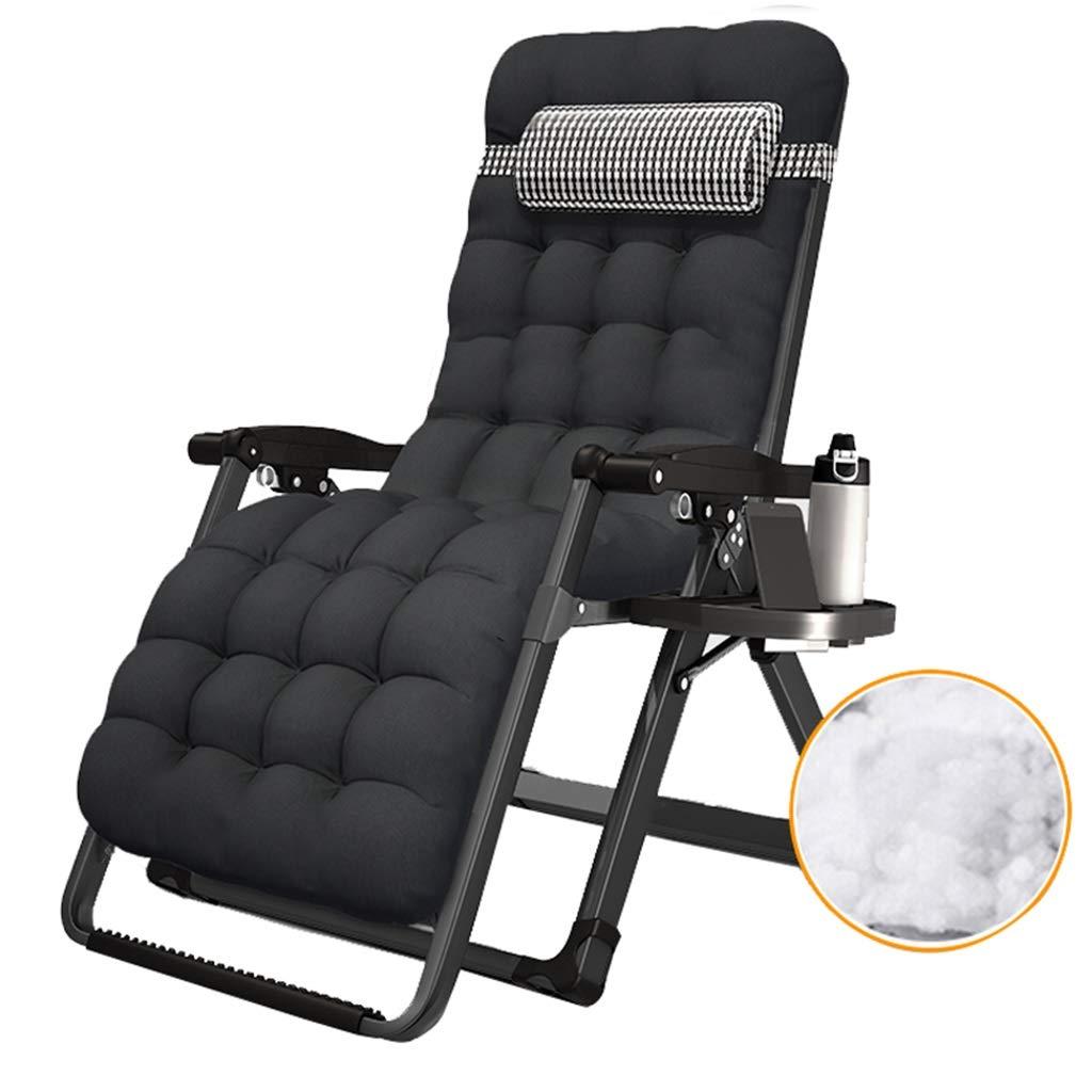 SjYsXm- Liegen Zero Gravity Lounge-Sessel Patio Recliners Patio Deck Chair Faltbarer, Verstellbarer Liegeplatz mit Getränkehalter und Kopfstütze (Farbe   Chair a+Cushion c)
