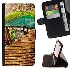 LG Magna / G4C / H525N H522Y H520N H502F H500F (G4 MINI,NOT FOR LG G4)Case , Naturaleza Hermosa Forrest Verde 9- la tarjeta de Crédito Slots PU Funda de cuero Monedero caso cubierta de piel