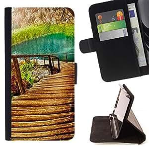 Momo Phone Case / Flip Funda de Cuero Case Cover - Naturaleza Hermosa Forrest Verde 9 - MOTOROLA MOTO X PLAY XT1562