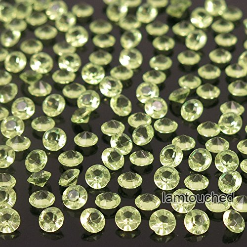 WALLER PAA 2000pcs 4.5mm Wedding Decoration Crystals Diamond Table Confetti Party Supplies (Lime Green) (Vase Crystal Dolphins)