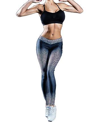 BoBoLily Pantalon Chandal Mujer Elegantes Estampado Leggings Para ...