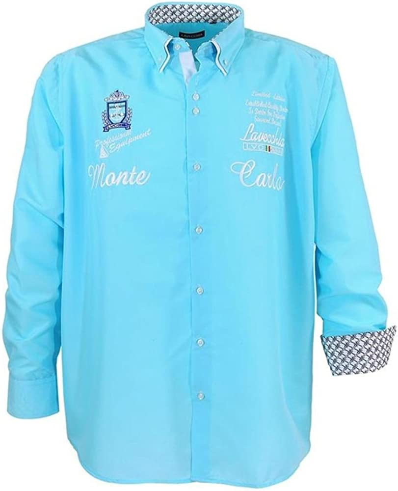 übergrössen. Elegante Camisa para hombre Lave cchia 1392 turquesa bordado turquesa XXXXX-Large: Amazon.es: Ropa y accesorios