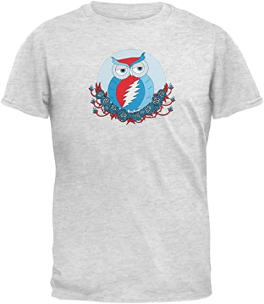 Steal Your Face Owl Heather Youth T-Shirt Grateful Dead