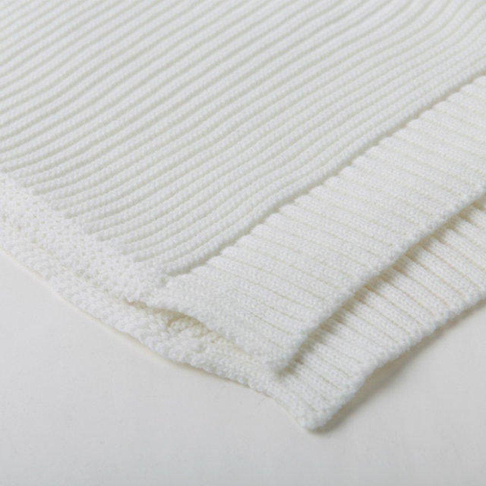 Suéter de punto de mujer Tops sueltos - hibote Suéter de cuello ...