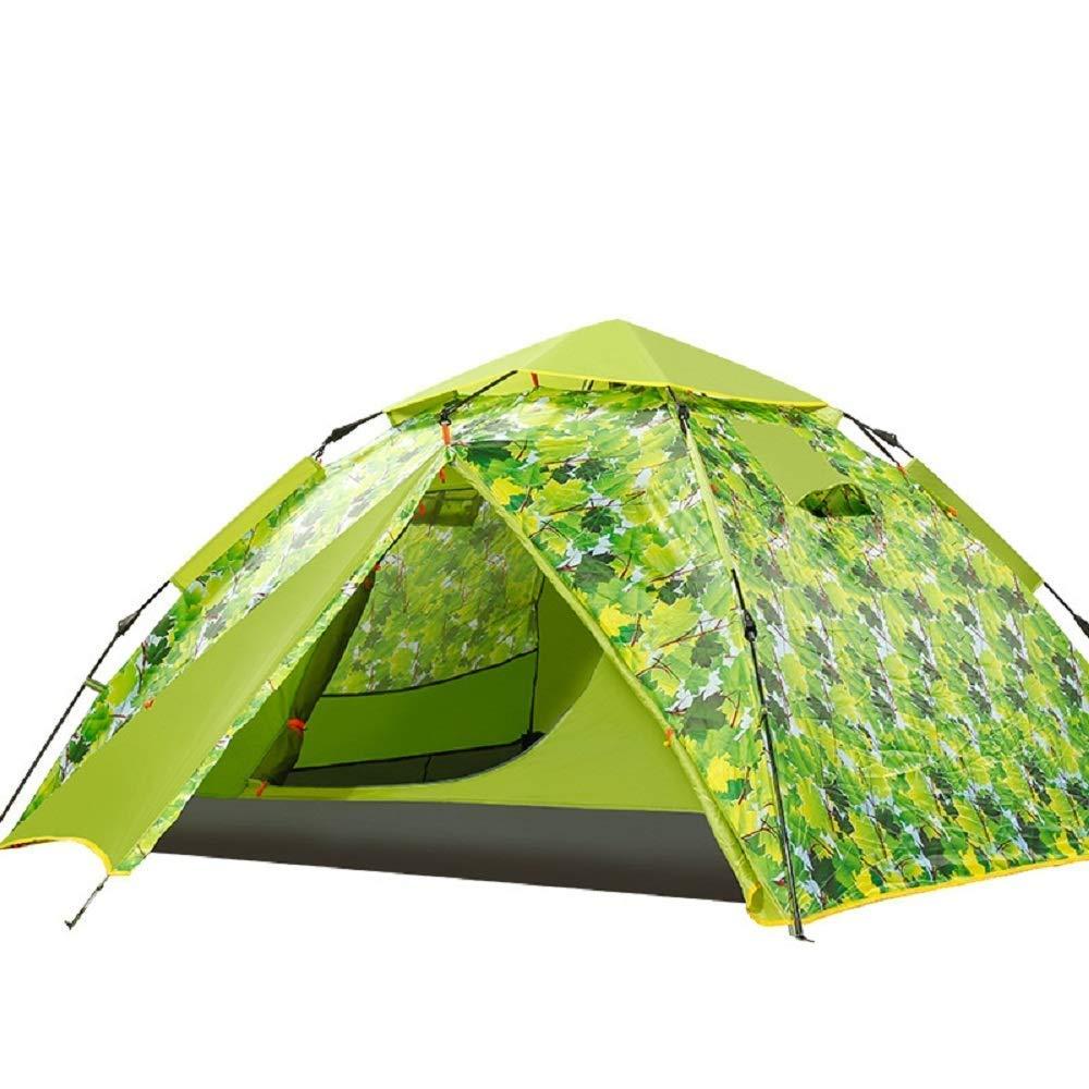 Brands Tente de Camping d'extérieur 2 Niveaux 2 Niveaux 3 à 4 Places Vert  -