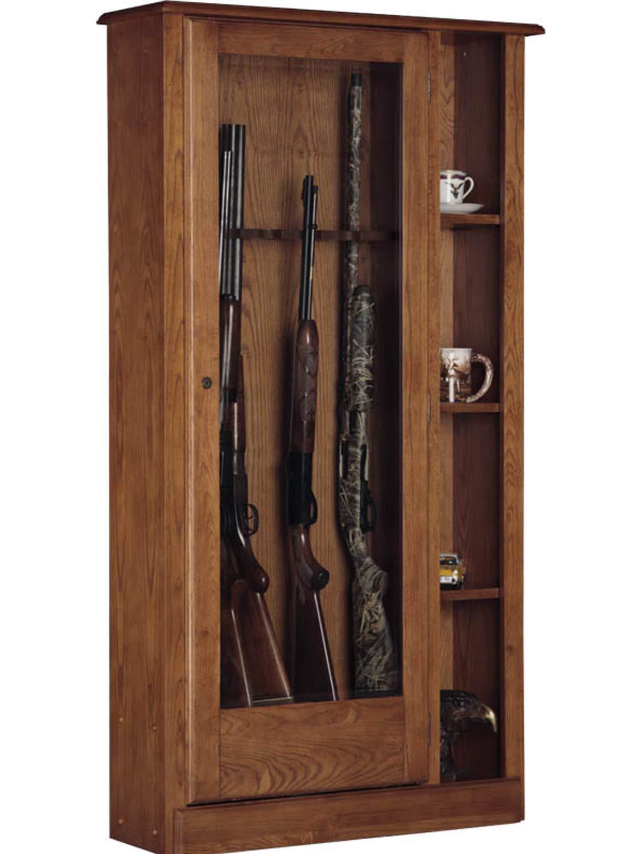 American Furniture Classics 725 10 Gun/Curio Cabinet Combination by American Furniture Classics