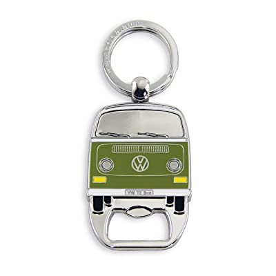 BRISA VW Collection - Volkswagen Samba Bus T2 Camper Van Key Ring Chain/Bottle Opener, Gift Idea/Fan Souvenir/Retro Vintage Product (Green): Automotive