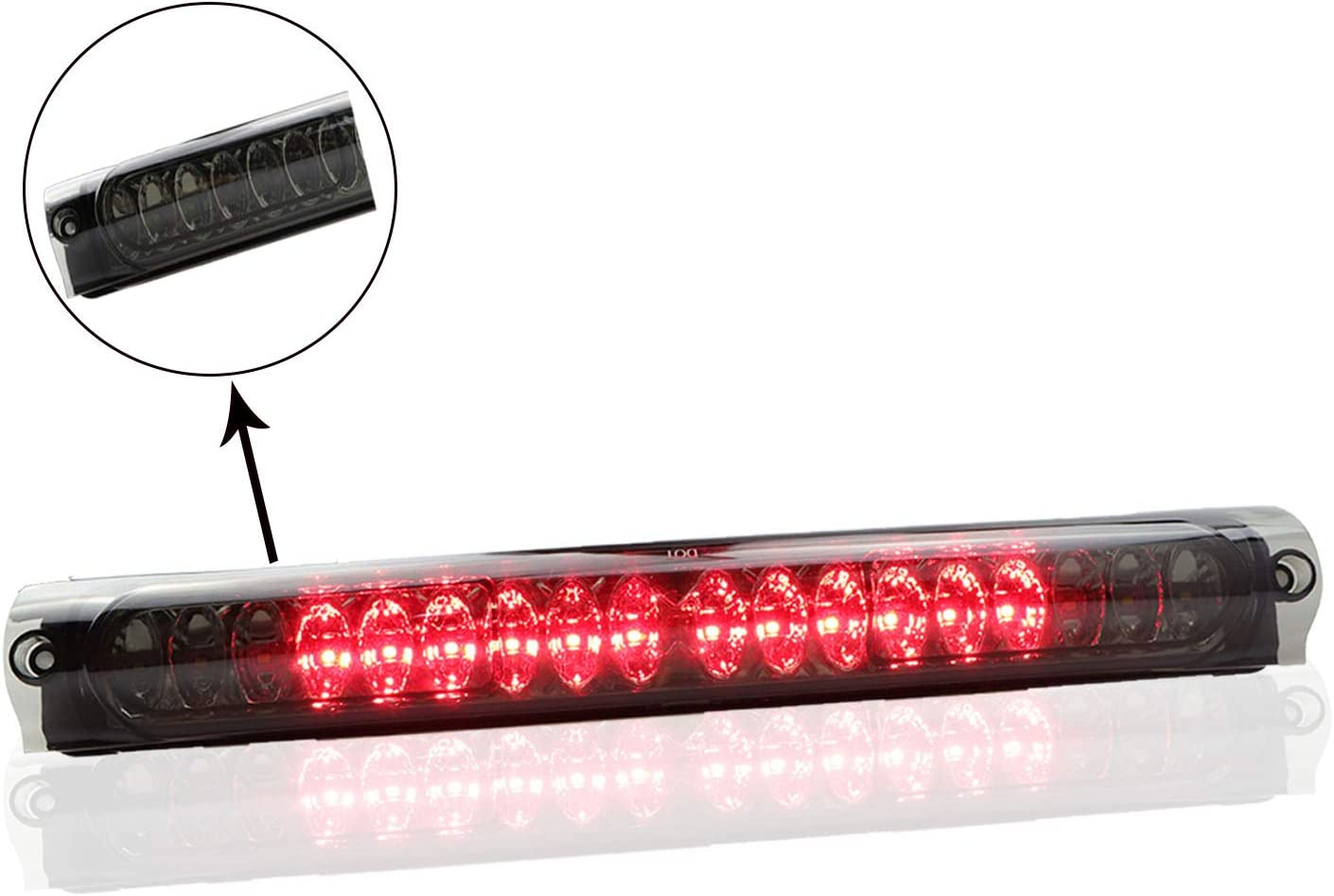 Red) for 1997-2004 Ford F150 LED 3rd Third Brake Light High Mount Lamp Cargo Tail Light