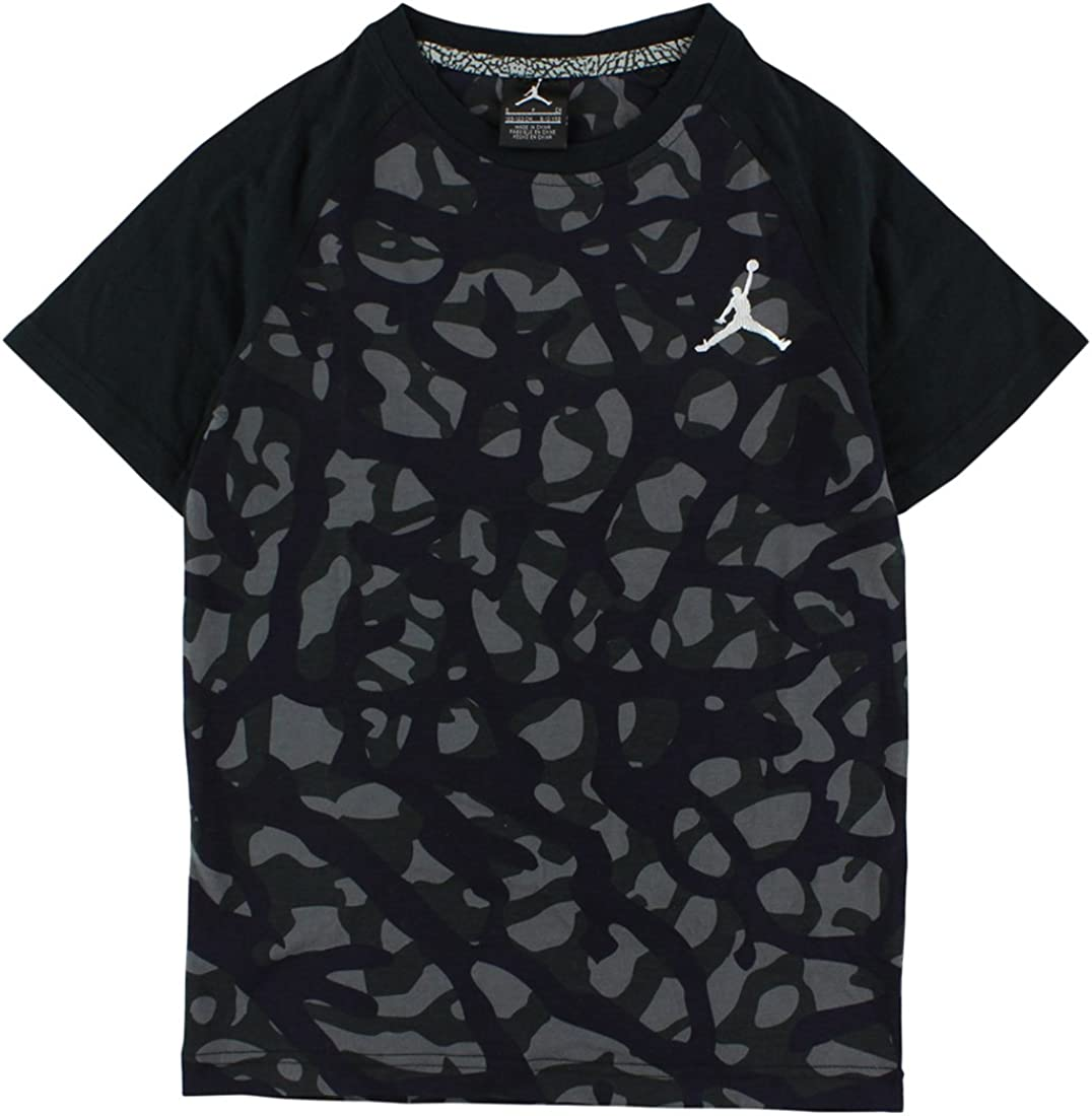 Jordan Big Boys Camo Elephant Print T-Shirt