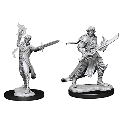 WizKids Pathfinder Deep Cuts Unpainted Miniatures: Male Elf Magus (Magic User): Toys & Games
