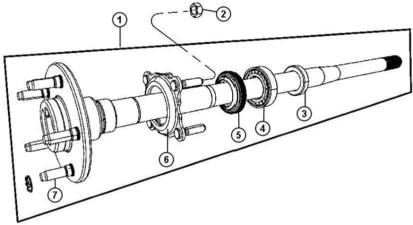 Axle Shaft Seal Mopar 0508 6686AA