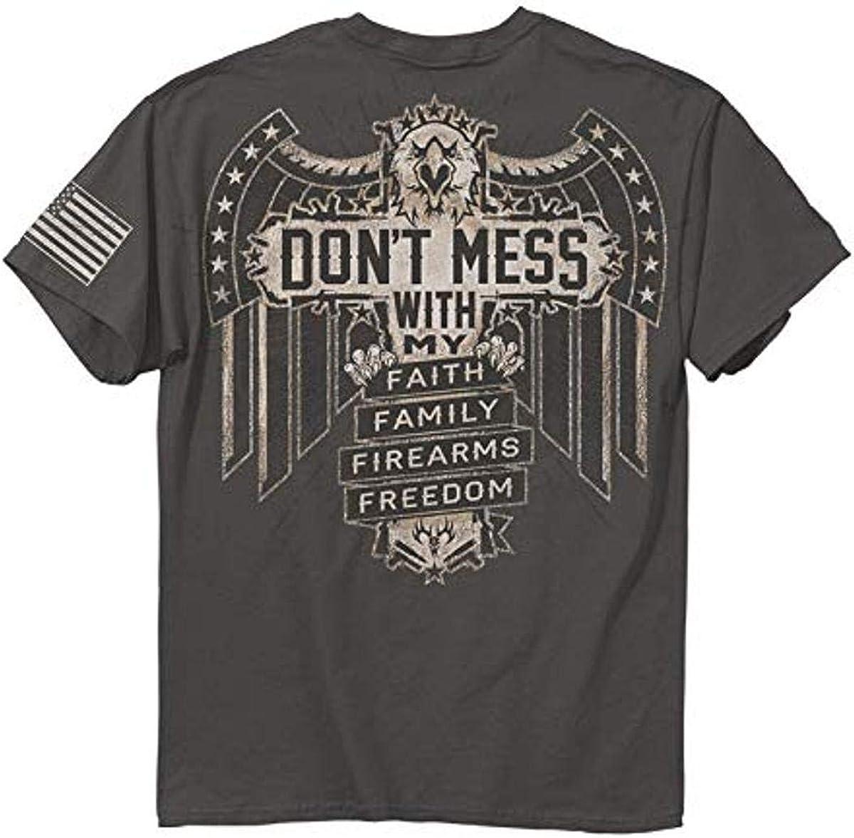 Buckwear Don't Mess T-Shirt, X-Large, Charcoal