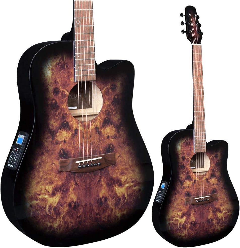Lindo Guitars Venus - Guitarra acústica, color verde y negro: Amazon.es: Instrumentos musicales