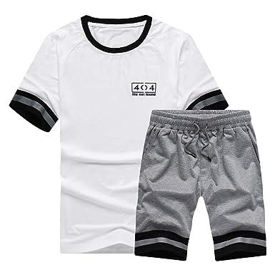 Camisetas Manga Corta Hombre Deporte Tallas Grandes Traje Corto De ...